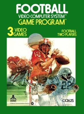 Football box art Atari 2600