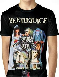 Beetlejuice 1980s Horror T-shirt for Men