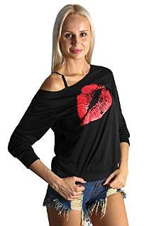 80s Neon Lips Sweatshirt Women