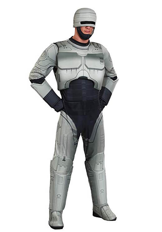 Robocop Costume Jumpsuit for Men with Helmet