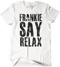 Frankie Say Relax Distressed T-shirt for Women