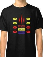 Knight Rider 80s KITT Dashboard T-shirt by Redbubble