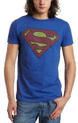 Superman Distressed Retro Logo T-shirt for Men