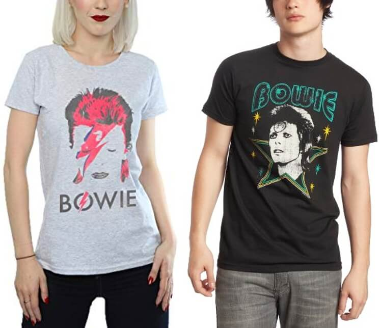 David Bowie T Shirts for Men and Women