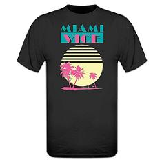 Miami Vice Sunset Palms T-shirt