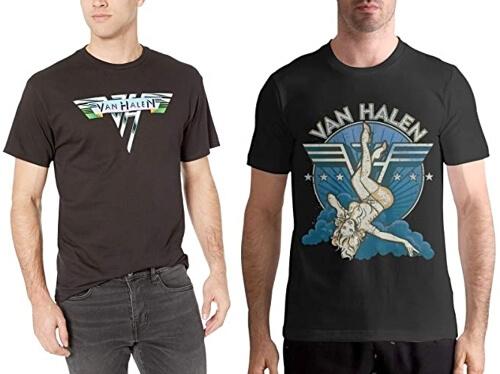 Van Halen Logo Eddie David Lee Roth Rock Licensed Tee T-Shirt Men
