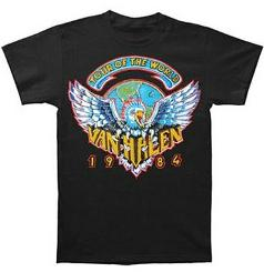 Van Halen 1984 Tour T-shirt Black